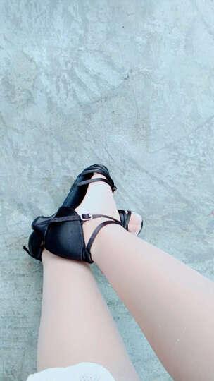 善然堂 拉丁舞鞋儿童女孩中高跟夏季舞蹈鞋女成人广场舞鞋跳舞凉鞋恰恰伦巴鞋子 黑色 36 晒单图