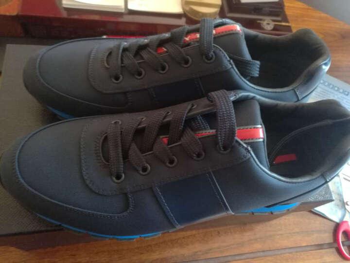 PRADA 普拉达 男士深灰色牛皮拼接系带休闲鞋 4E2718 1ODT F0002 9/43码 晒单图