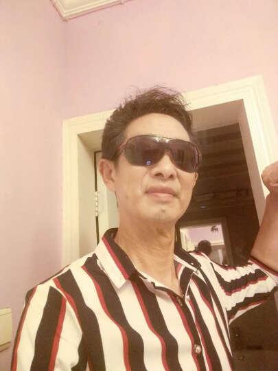 巴克龙青年个性短袖衬衫男生修身正装商务紧身弹力条纹五分袖衬衣发型师加肥加大码薄款透气韩版潮 绿色YC024 4XL 晒单图