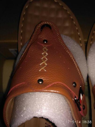 黑牧尔 夏季新款人字拖 男鞋凉拖鞋 男士休闲凉鞋户外沙滩鞋透气凉拖鞋 HY14102 棕色 42 晒单图