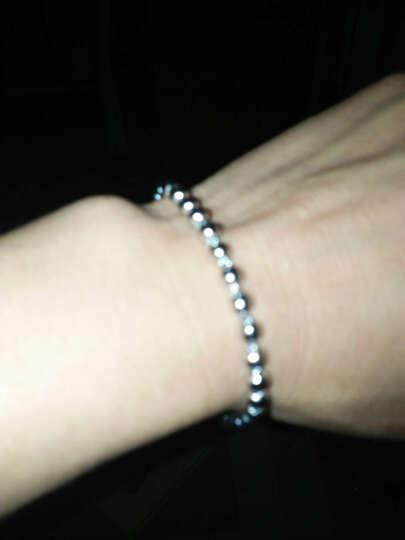零点在线 珠珠925银手链 时尚银饰手链 银手饰女 晒单图