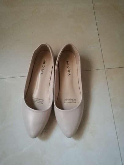 玫蒂莎(MDIS∧) 四季青春款潮流柳钉舒适休闲单鞋女 Y1861 黑色 39码 晒单图