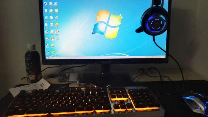 银雕(YINDIAO) 牧马人真机械手感键盘鼠标耳机三件套装电脑有线游戏吃鸡背光键鼠外设 黑色(黄色背光)键盘+游戏鼠标+发光游戏耳机 晒单图