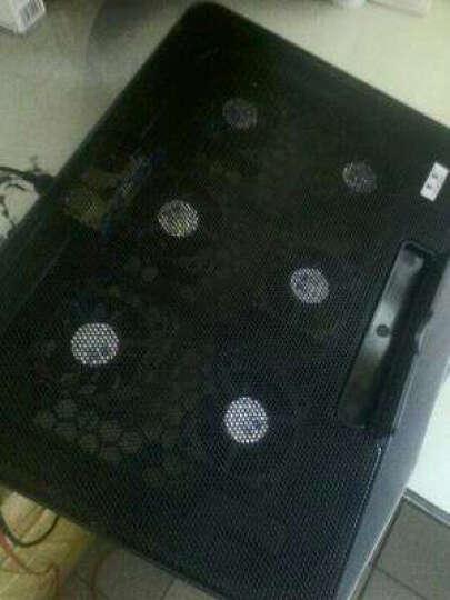 【京仓】笔记本支架电脑散热垫架底座手提电脑抽风式散热器15.6英寸14英寸17英寸电脑配件 六风扇黑色豪华版 晒单图