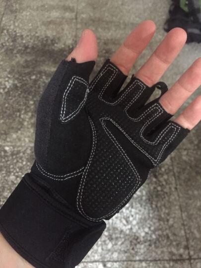 LAC健身手套男运动女护腕器械训练防滑透气夏半指单杠 镂空透气 黑色 M码 晒单图
