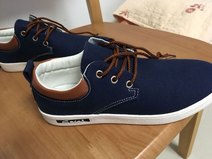 策乐(CELE)男鞋休闲鞋 户外运动板鞋 男士帆布鞋休闲皮鞋 乐福鞋 C36/深蓝色- 41 晒单图