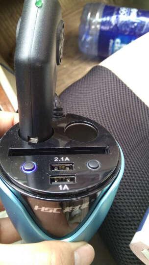 英才星 车载充电器 车充通用一拖二一拖三 汽车点烟器转USB转换器电源插座手机快充改装专用 宝石蓝-带电压检测 200D 吉利帝豪GSEC7新远景X6SUV16金刚博越博越 晒单图