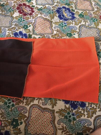 WITESS维特斯夏日优选冷感运动毛巾健身凉爽降温消暑 吸汗透气速干毛巾30*100cm 橘黄色 晒单图