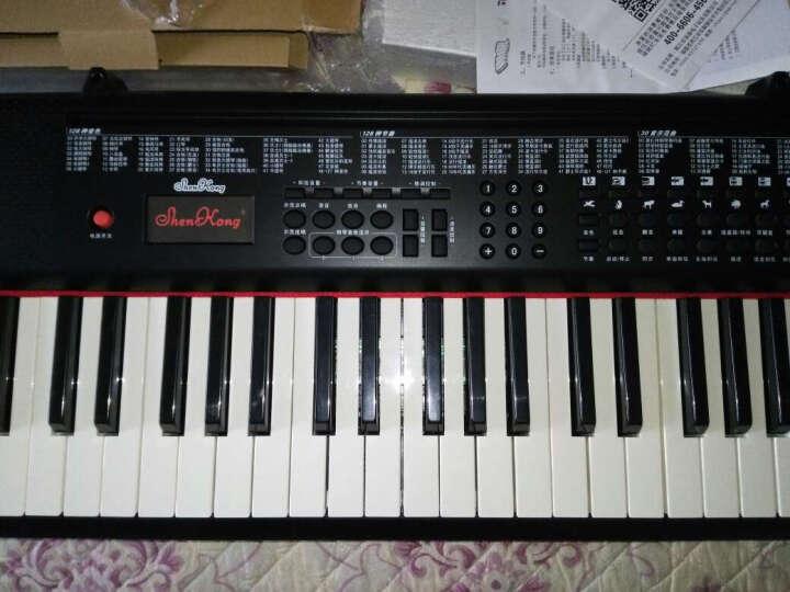 深港(ShenKong) 电子琴成人61键儿童初学者多功能教学电子钢琴 仿钢琴键盘 SK-20069 61键 教学系列 黑色 晒单图