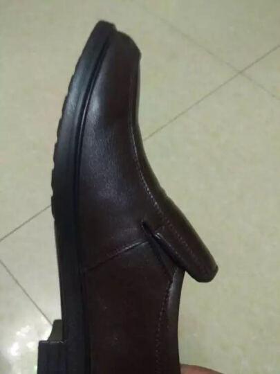 意尔康皮鞋经典商务休闲男鞋日常舒适套脚单鞋S541AE73153W黑色40 晒单图