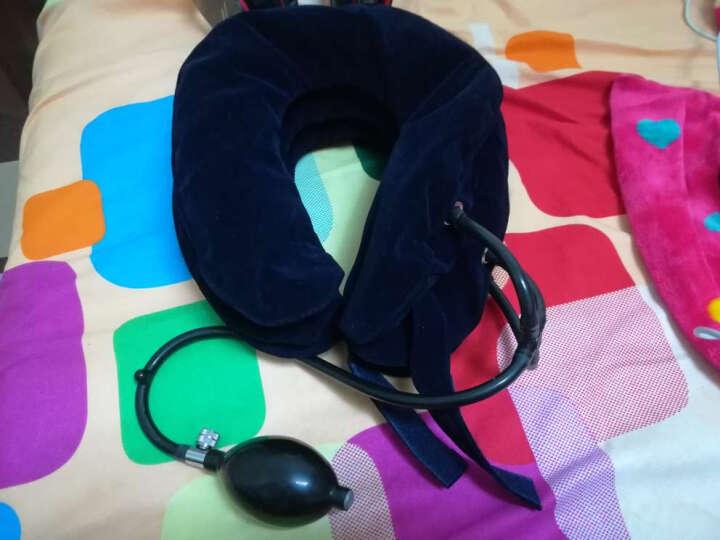 圣迪奥颈椎牵引器 家用旅行充气式 护颈托枕脖子 深蓝(3管)升级款 晒单图