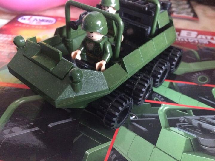 卫乐积木陆战英豪益智拼插积木军事防空导弹迫击炮反坦克导弹车儿童男孩玩具 8020 油罐车 91pcs 晒单图