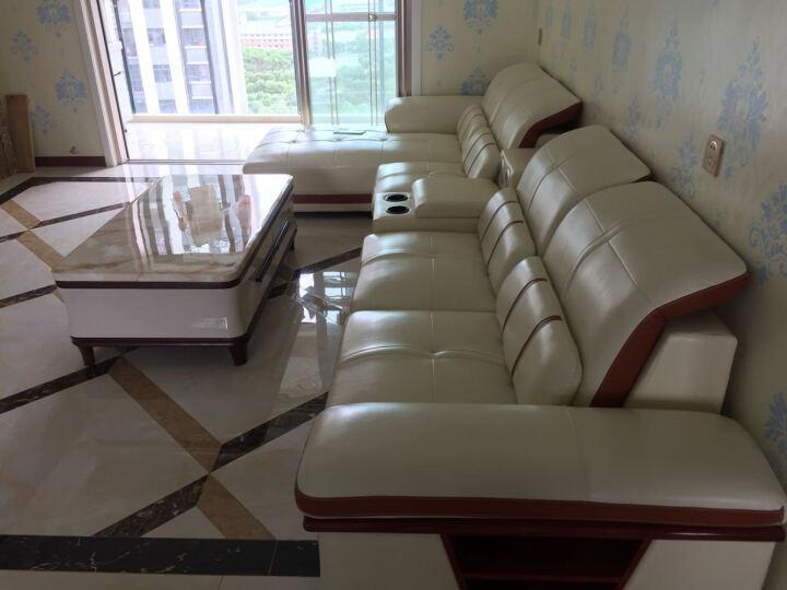 奥凡尼 沙发 真皮沙发 简约现代小户型转角沙发 沙发组合 单+双+贵+边 (指定城市)0元五包 晒单图
