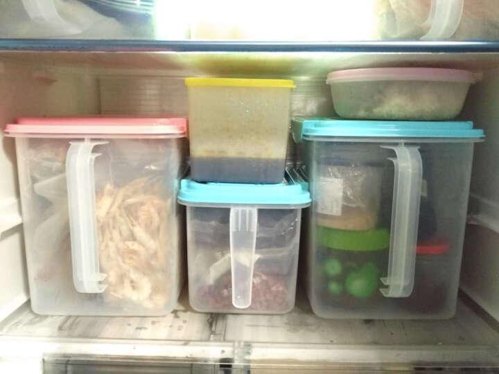 HAIXIN海兴冰箱收纳储物盒水果密封收纳箱食品鸡蛋盒组合装 粉红色4.5L*4 带硅胶圈 晒单图