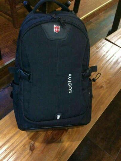 瑞士瑞戈男士背包商务休闲双肩包学生书包大容量旅行包通勤电脑包15.6/17英寸 黑色|加大版 晒单图