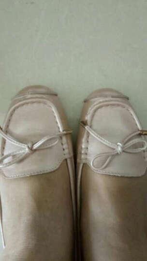 专柜款休闲鞋女夏款豆豆鞋头层牛皮平底单鞋 意大利专供款-白色 34 晒单图