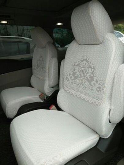 威威 汽车座套布艺蕾丝坐套全包车座椅套奥迪A6l a4l q5 q3宝马3系5系x1 CV6016-半截带座 凯迪拉克xts atsl srx xt5 ct6 晒单图