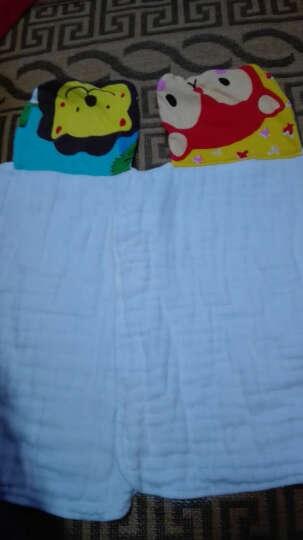 序言(XUYAN)汗巾儿童婴儿吸汗巾纯棉垫背巾宝宝隔汗巾幼儿园小孩汗巾 5条装-6层加大男宝色【卡通插画】 晒单图