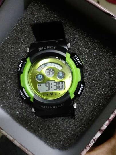 迪士尼(Disney)七彩炫酷夜光多功能儿童运动防水绿色男孩手表 DLE-012 晒单图