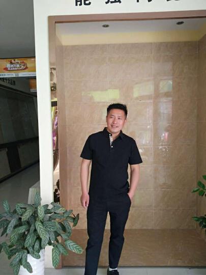 七匹狼短袖T恤男夏装新款男装多彩POLO衫男士纯棉翻领半袖t恤衫2057g 黑色 175/92A(XL) 晒单图