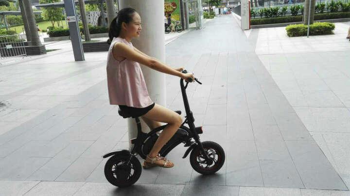 飞轮威尔 大鱼D1迷你折叠电动自行车锂电池电动助力车电单车成人代步代驾车电瓶车 D1白色豪华版 晒单图