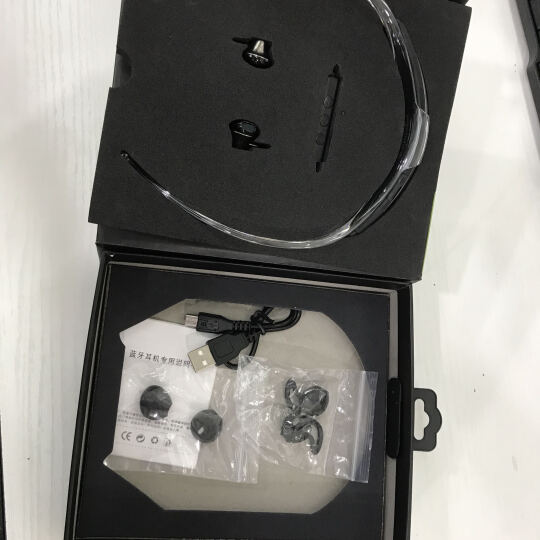 魔壳(Moke) 无线蓝牙耳机带麦迷你跑步运动车载耳塞式超长续航苹果安卓通用立体声4.1 白银 晒单图