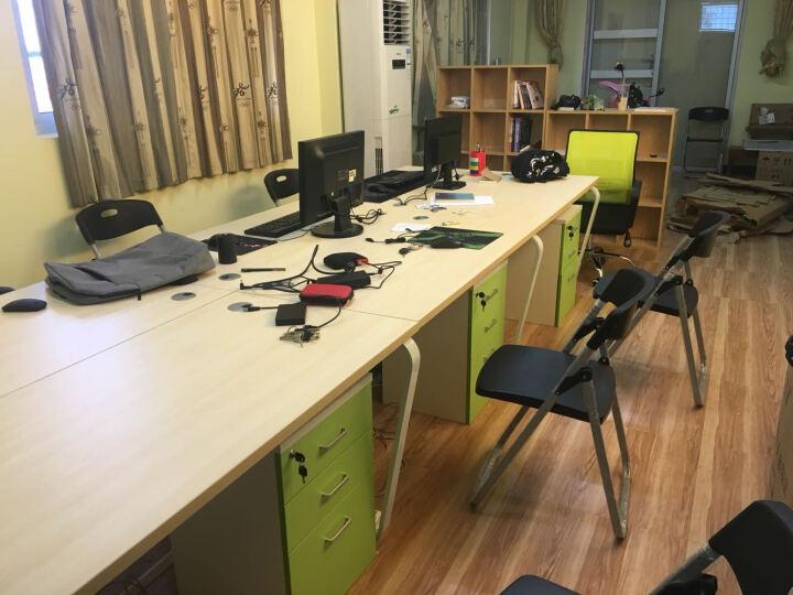 汉晨(HC) 北京办公家具办公桌 时尚屏风办公桌职员卡座工作位职员桌组合员工桌办公桌 四人位+活动柜+职员椅 晒单图