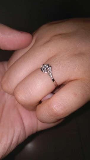 钻石小鸟 Zbird 18K金钻石戒指 18分求婚订婚结婚女款 15号 丝缠 晒单图