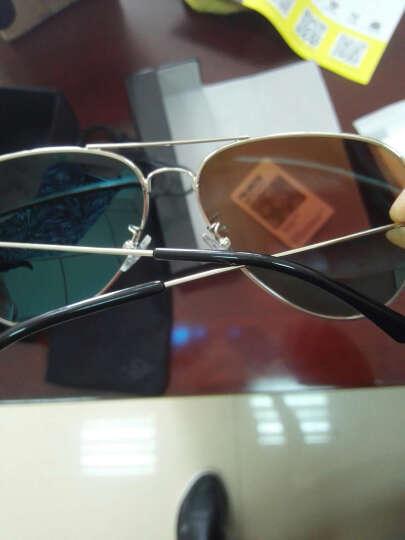 音米(INMIX)情侣款偏光太阳镜 时尚飞行员蛤蟆镜潮人复古墨镜驾驶镜 炫彩眼镜 1201 银框蓝片 晒单图