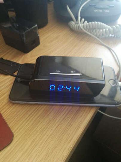 安爸(ANBA)闹钟非隐蔽监控摄像头无线摄像头wifi 微型非隐形迷你监控摄像机 录音录像 蓝牙耳机摄像头 标配无卡 晒单图