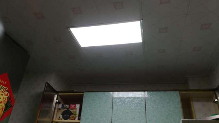 【2件8折3件7折】雷士照明集成吊顶灯厨房led平面板铝扣板嵌入式浴室卫生间格栅吸顶灯具 白色 24W功率30*60cm白光 晒单图