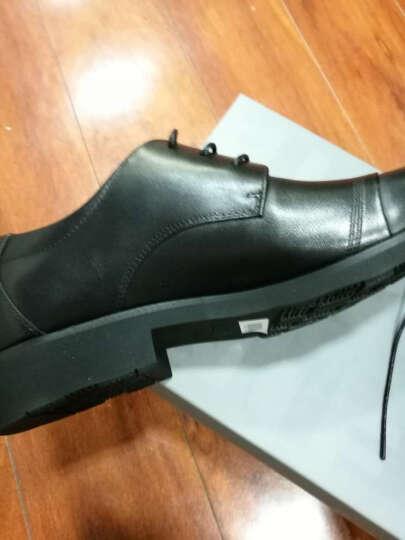 百丽(BeLLE)商务休闲鞋牛皮男皮鞋单鞋 黑色 40 3UX01CM5 晒单图