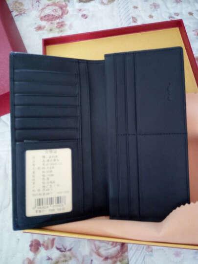 金利来(Goldlion)新款男士钱包商务休闲多功能钱夹牛皮票夹 长款黑色B715009-111 晒单图