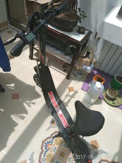 百酷 电动滑板车锂电池成人折叠电动车自行车时尚电瓶车代步车 经典黑36V400瓦55公里(无坐垫) 晒单图