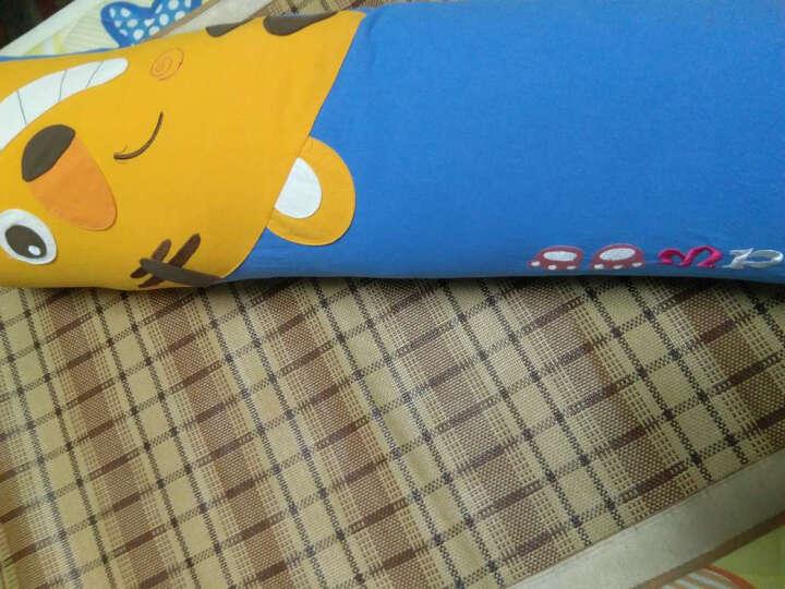 糖果抱枕情侣加长靠枕圣诞节礼物创意沙发床双人靠枕 趴枕 宝石蓝 22*105 晒单图