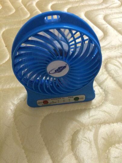 迷你风扇充电USB风扇学生风扇手持便携小风扇创意礼品风扇避暑礼物送学生女友同事爱人 蓝标 白色 晒单图