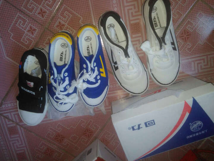 回力WARRIOR新款儿童足球鞋  系带帆布鞋牛筋底透气防滑儿童平地室内球鞋 1229白色 34码/内长约21cm 晒单图