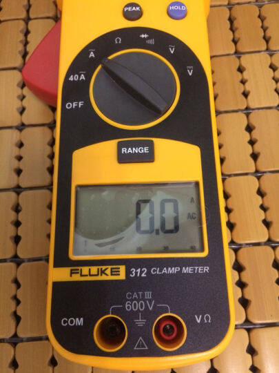 福禄克(FLUKE)钳形表F312交直流电压电流电阻测试钳形万用表钳形电流表钳形表万用表钳表 晒单图