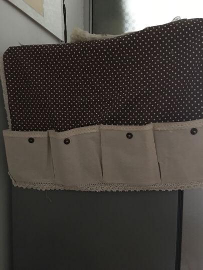 欣伊 棉麻对开门防尘罩 双开门冰箱罩 冰箱巾 点点咖啡色 对开门(70*178CM) 晒单图