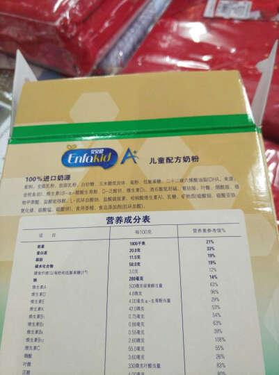美赞臣(MeadJohnson) 安儿健A+儿童配方奶粉 4段(3岁或以上儿童适用) 400克盒装 晒单图