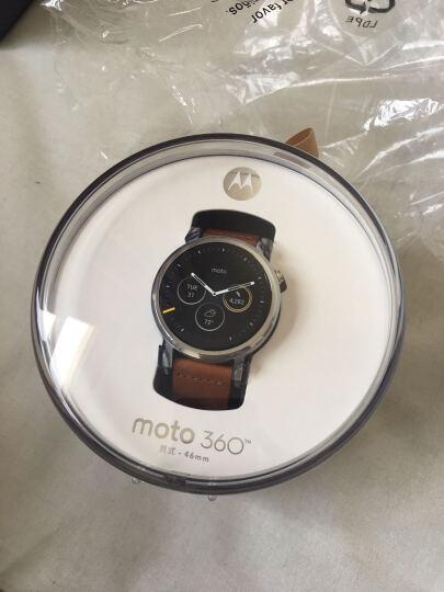 国行Motorola摩托罗拉 新一代 Moto 360二代智能手表男士手表时尚男女表 国行360L 46mm干邑色 晒单图