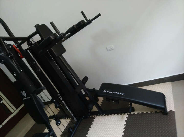 美力德 综合训练器 多功能力量组合运动器材大型健身器材家用三人站 705A(50*75管)包上楼 晒单图