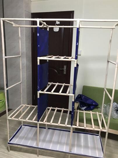 名创优品(MINGCHUANGUP) 名创优品 实木 布衣柜加固加厚大号组合收纳衣柜简易 女人花 晒单图