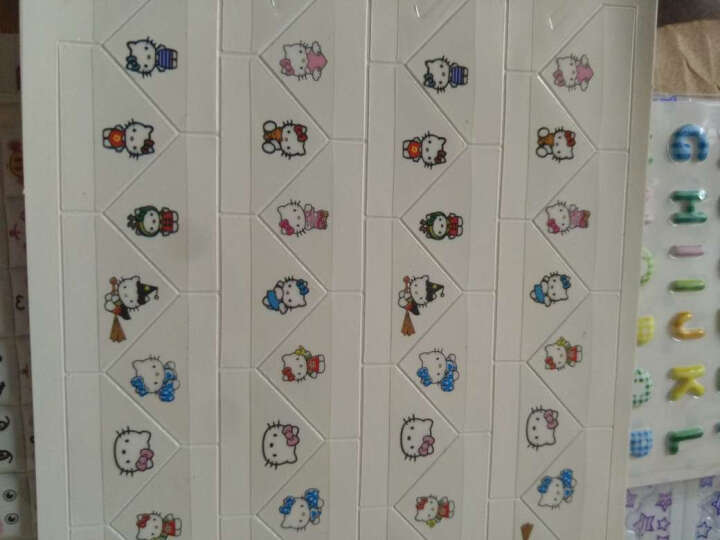 美丽集大号款卡通pvc角贴 diy相册制作配件工具照片固定相角 44枚 小猫 晒单图