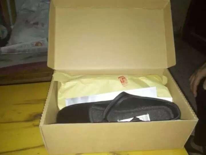 布舍老北京布鞋 女单鞋平底黑广场跳舞鞋酒店礼仪平跟工作鞋 黑色 38 晒单图