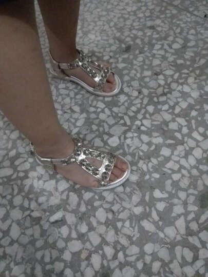 比米熊2017夏季儿童凉鞋女童公主鞋韩版女孩单鞋新款拖鞋学生表演鞋童鞋 银色 36码/内长22.6cm 晒单图