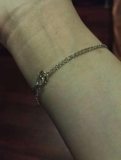 明牌珠宝铂金手链 Pt950简约时尚精致女款手链BFK0010 带可调节拖尾 16+2厘米 约3.01克 晒单图