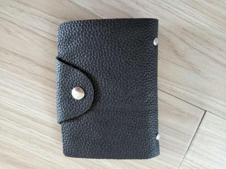 梵士汇(F4Y)24卡位卡包 JS-4103 信用卡银行卡夹 时尚商务牛皮多功能男士卡包 黑色A 晒单图