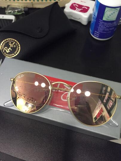 Ray-Ban 雷朋墨镜男女款圆形系列金色镜框古铜色闪光镜片眼镜太阳镜 RB3447 112/Z2 50mm 晒单图