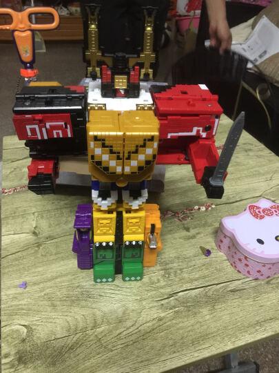 儿童神兽金刚3玩具合体变形玩具男孩早教益智玩具组合套装方块模型耐摔机器人金刚数字动物战队 无敌百兽8合1 晒单图
